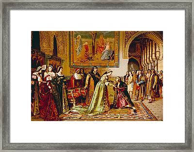 Christopher Columbus Received By King Framed Print
