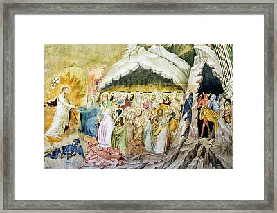 Christ's Descent Into Limbo, 14th Century Framed Print by Sheila Terry