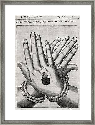 Christ's Stigmata, 17th Century Framed Print by Middle Temple Library