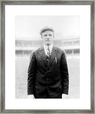 Framed Print featuring the photograph Christy Mathewson - Major League Baseball Player by International  Images