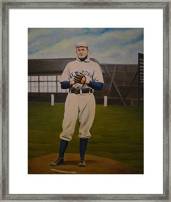 Christy Mathewson Framed Print by Mark Haley