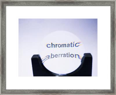 Chromatic Aberration Framed Print by Andrew Lambert Photography