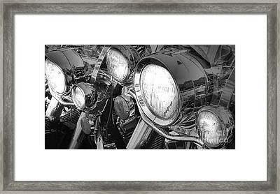 Chrome And Lights Framed Print by David  Hubbs
