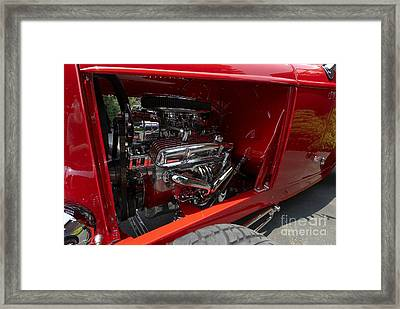 Chrome Engine Framed Print