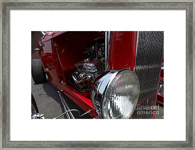 Chrome Engine Vintage Car Framed Print