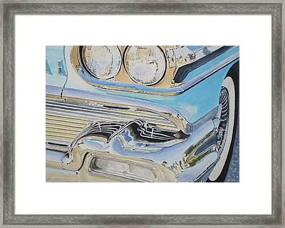 Chrome  Ode To An Olds Framed Print by Patrick DuMouchel