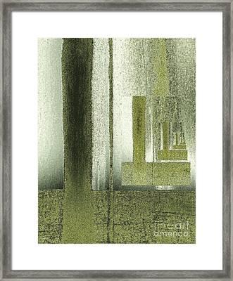 Chrome Olive Greens Framed Print