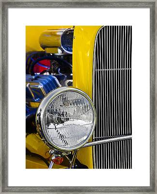 Framed Print featuring the photograph Chrome Yellow 01 by Kevin Chippindall