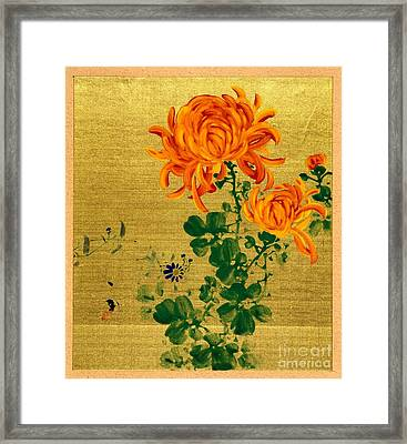 Chrysanthemums 1915 Framed Print by Padre Art