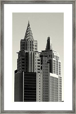 Chrysler And Empire Framed Print by Linda Edgecomb