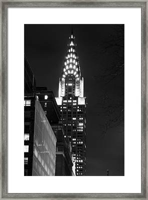 Framed Print featuring the photograph Chrysler Building by Michael Dorn