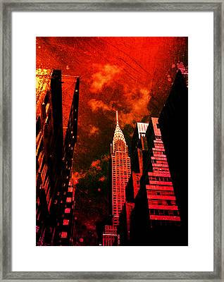 Chrysler Building - New York City Surreal Framed Print by Vivienne Gucwa