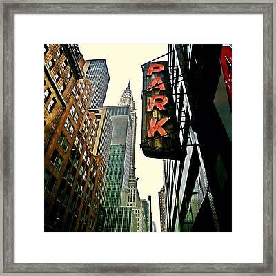 Chrysler Building Ny Framed Print