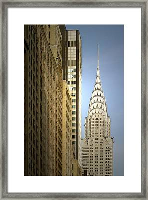 Chrysler Building Nyc - Streamlined Majesty Framed Print