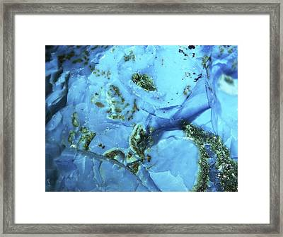 Chrysocolla, Macrophotograph Framed Print by Pasieka