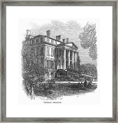 Ch�teau Margaux, 1867 Framed Print by Granger