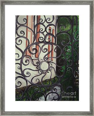 Chuch St. Iron Gate Framed Print by Osee Koger