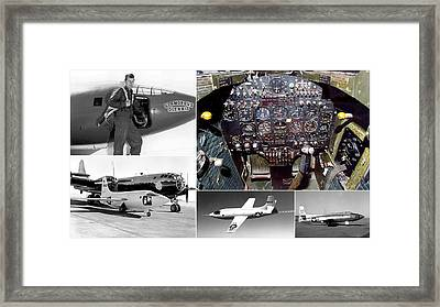 Chuck Yeager And The Bell X-1 Rocket Plane Framed Print
