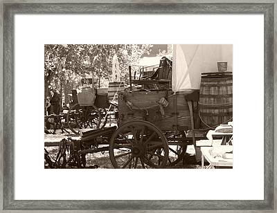 Chuckwagon Framed Print by Toni Hopper