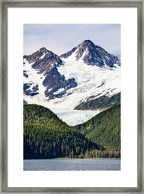 Chugach Mountain Glaciers Framed Print by Adam Pender