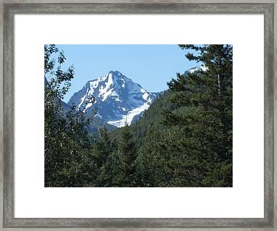 Chugach Mountain View Framed Print by George Hawkins