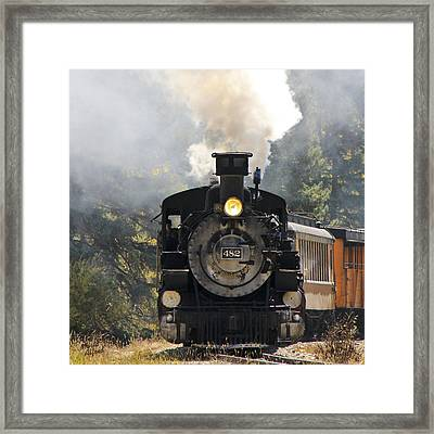 Chugging Around The Bend Framed Print