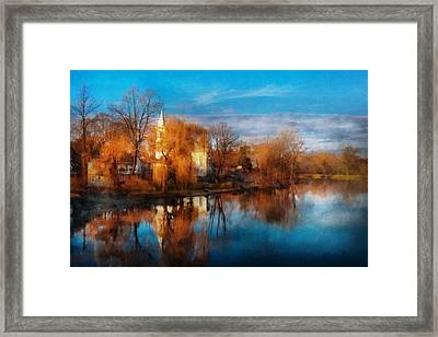 Church - Clinton Nj - Clinton United Methodist Church Framed Print