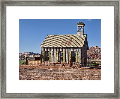 Church And Or School House Framed Print by Gregory Scott