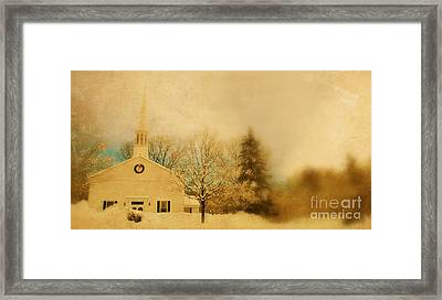 Church At Christmas Framed Print