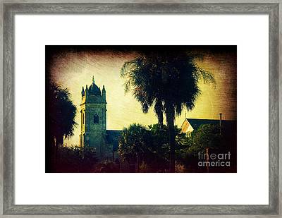Church At Fort Moultrie Near Charleston Sc Framed Print