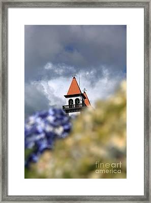 Church At Furnas Framed Print by Gaspar Avila