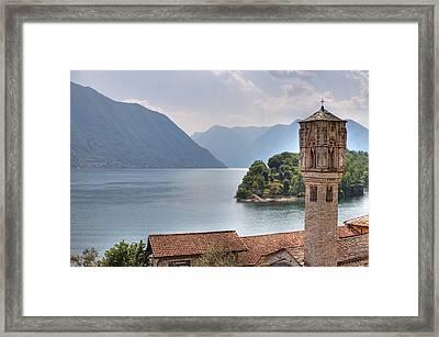 church at the Lake Como Framed Print