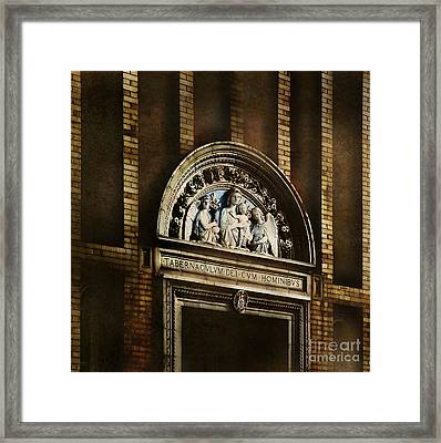 Church Detail Framed Print by HD Connelly