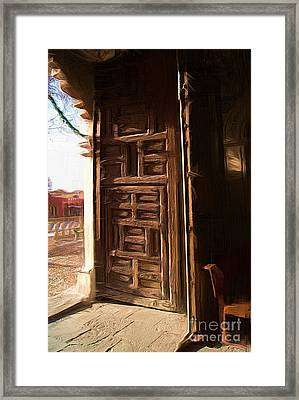 Church Door At Atotonilco Framed Print