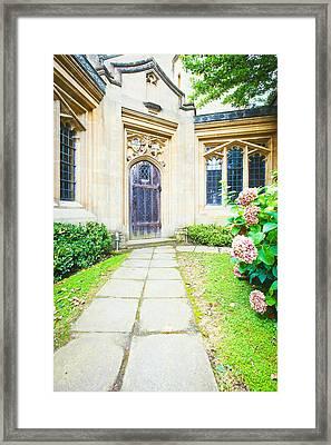 Church Door Framed Print by Tom Gowanlock