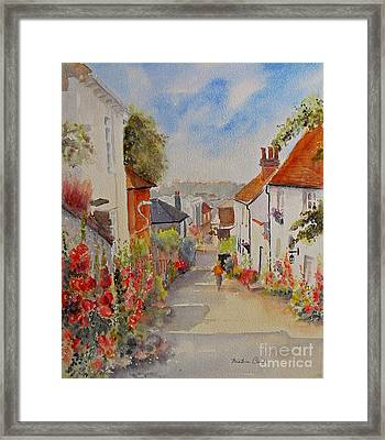 Framed Print featuring the painting Church Hill - Hythe- Uk by Beatrice Cloake