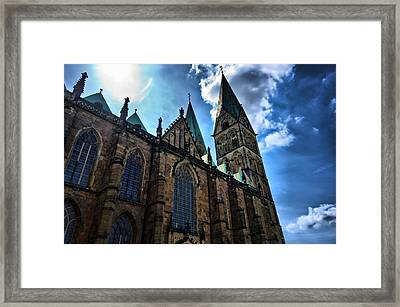 Framed Print featuring the photograph Church In Bremen by Edward Myers