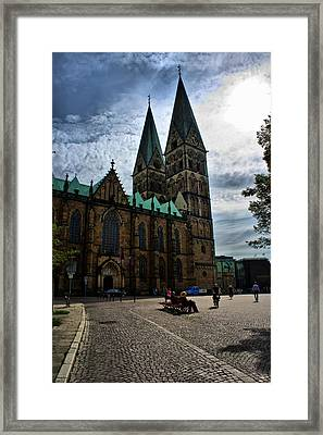Framed Print featuring the photograph Church In Bremen Germany 2 by Edward Myers