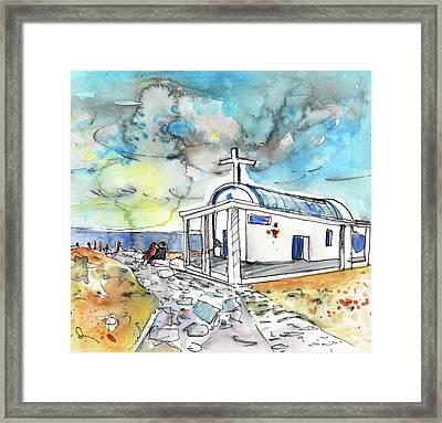 Church In Cape Gkreko In Cyprus Framed Print by Miki De Goodaboom