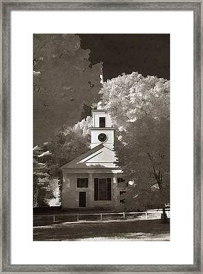 Church In Infrared Framed Print by Joann Vitali