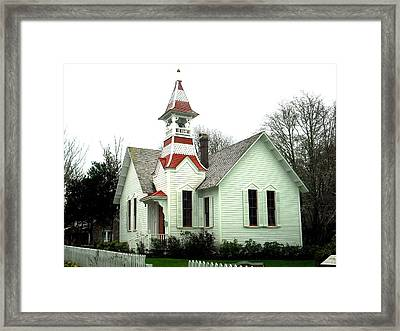 Church In Oysterville Framed Print