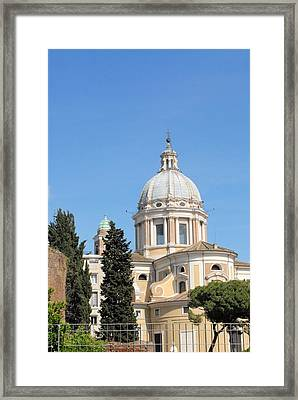 Church In Rome Framed Print by