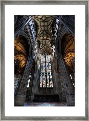 Church Interior Framed Print by Adrian Evans