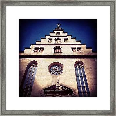Church Framed Print by Matthias Hauser