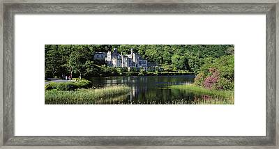 Church Near A Lake, Kylemore Abbey Framed Print by The Irish Image Collection
