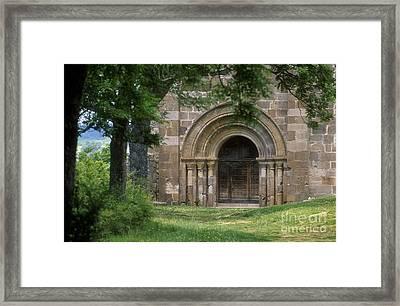 Church Of Bredons.cantal. France Framed Print by Bernard Jaubert