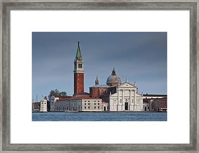 Church Of San Giorgio Maggiore Venice Italy Framed Print by Gabor Pozsgai