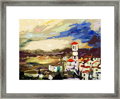 Church Of Santa Maria Assisi Italy Framed Print by Ginette Callaway