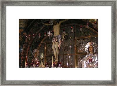 Church Of The Holy Sepulchre Jerusalem Framed Print by Valia Bradshaw