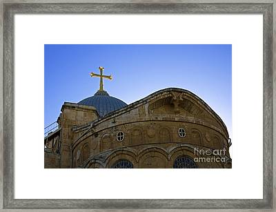 church of the Holy Sepulchre Old city Jerusalem Framed Print